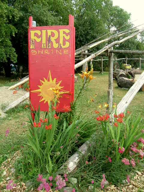 Fire shrine photo by Lilith Dorsey