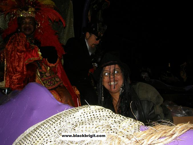 Lilith Dorsey, Priestess Miriam and Dr. John Mac Rebennack at Krewe Du Vieux